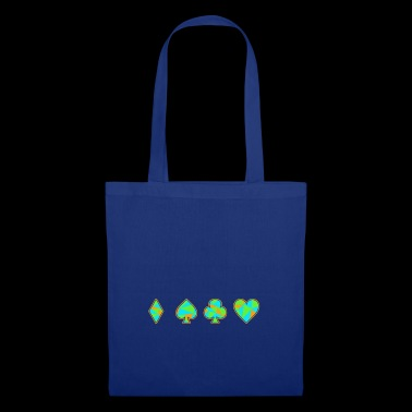Jeu de cartes Neon Skat Poker Gift Player Heart - Tote Bag