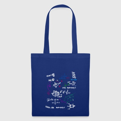 Math Complex Mathematical blackboard with formulas - Tote Bag