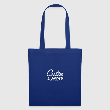 Cutie Pi 3.14 gift for Frat Boys and Sorority Girl - Tote Bag