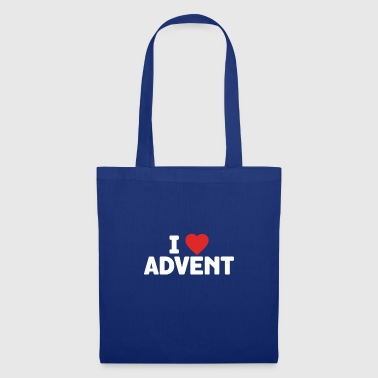 I Love Advent Christmas Season Countdown Calendar - Tote Bag