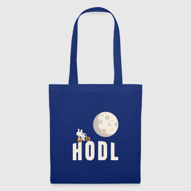 HODL Bicycle Flying Moon Cryptocurrency Blockchain - Bolsa de tela