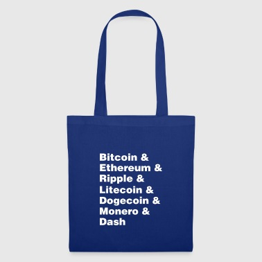 Bitcoin & Ethereum & Ripple Cryptocurrency Coins - Tote Bag