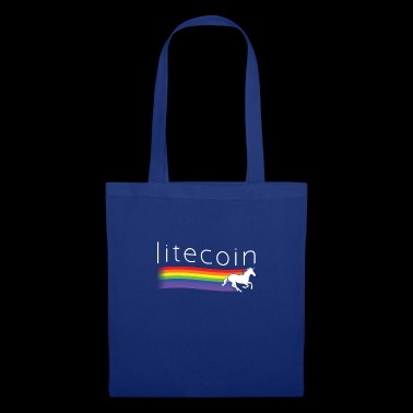 Litecoin Unicorn Rainbow Cryptocurrency Lite Coin - Stoffveske