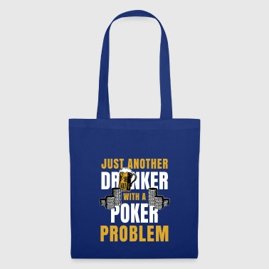 Poker Geschenk Ass Pokerface Casino Trinker Bier - Stoffbeutel