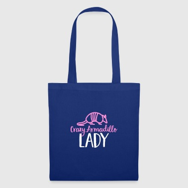 Crazy Armadillo Lady T-Shirt - Cute Armour Shell - Tote Bag