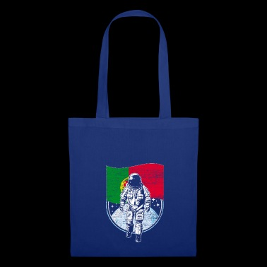Portugal flag in space Astronaut moon - Tote Bag