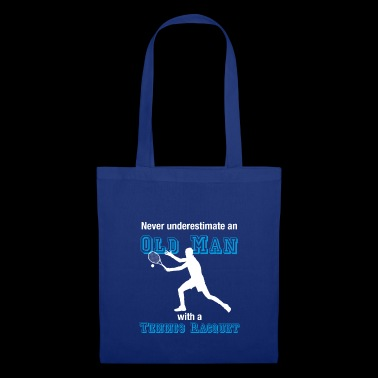 Old tennis player T-shirt tennis oldie farewell - Tote Bag