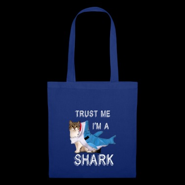Trust Me I'm A Shark Funny Cat In Costume Graphic - Tote Bag