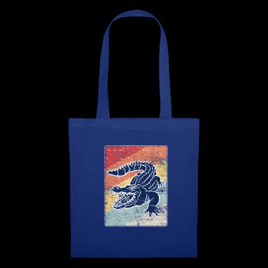 Crocodile v1 grunge - Tote Bag