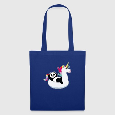 Panda su unicorn air mat kawaii estate fresca - Borsa di stoffa