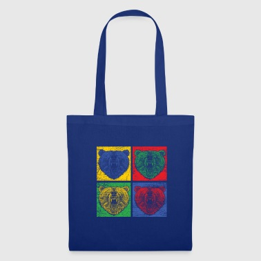 Bear Pop Art Zoo Animal Park Predator Colorful Forest - Tote Bag