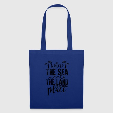 Where The Sea Meets The Land - Vacation Beach Shirt - Tote Bag