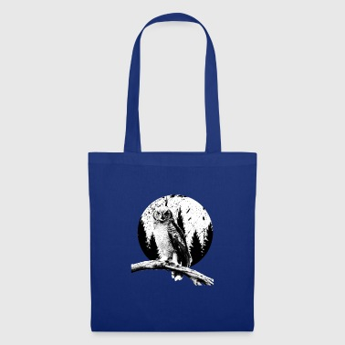 Owl Moon Trees Nocturnal Bird Night Predator Lover - Borsa di stoffa
