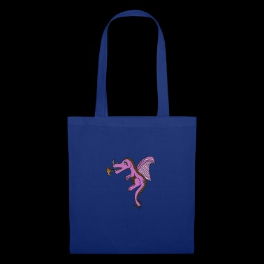 pink fire-breathing dragon, beautiful gift idea - Tote Bag