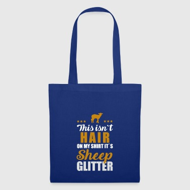 Sheep sheep shepherd wool gift glitter farmer - Tote Bag