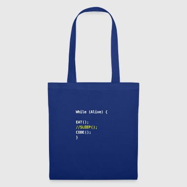 while alive - code - Tote Bag