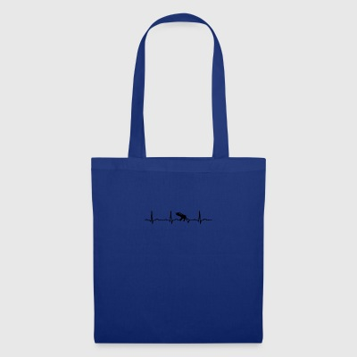 ECG HEARTBEAT MACHINE GUN ARME Noir - Tote Bag