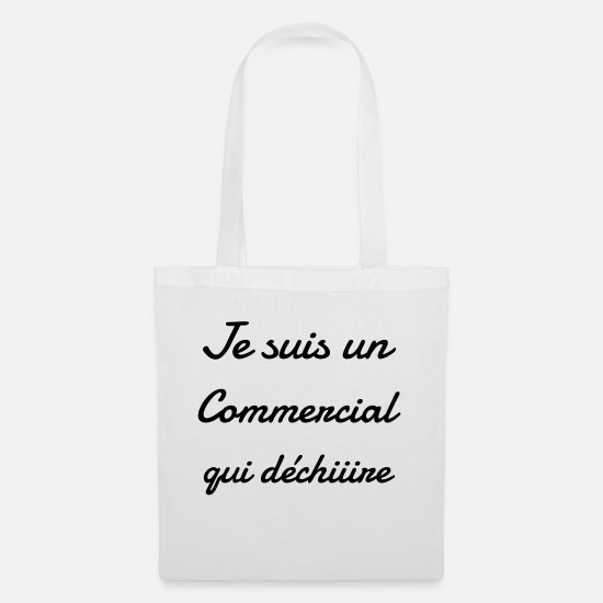Seller Bags & Backpacks - Sales Man Commercial Vertreter Verkäufer Seller - Tote Bag white