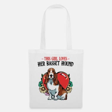 Sweet Dog This Girl Loves Her Basset Hound Saying Gift - Tote Bag