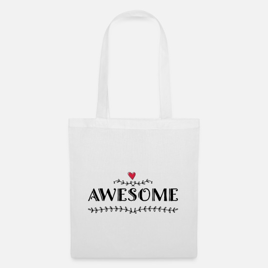 Awesome Bags & Backpacks - Awesome - Tote Bag white