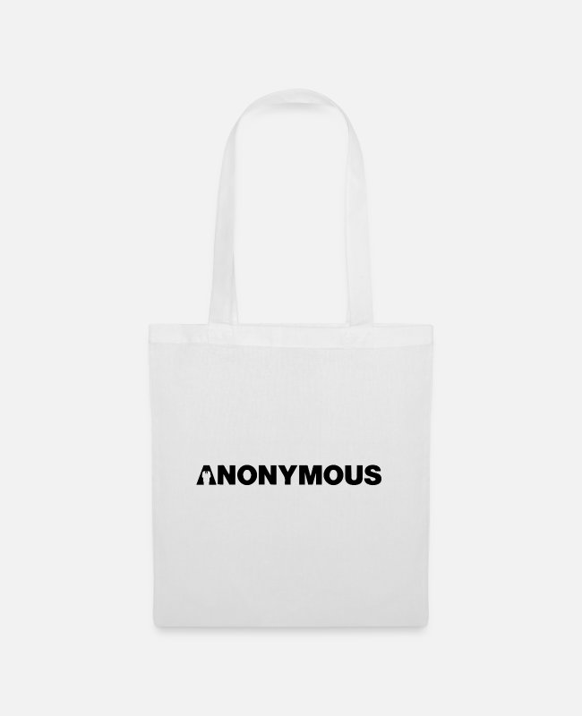 Obey Bags & Backpacks - Anonymous - We are legion - Expect us - Shirt - Tote Bag white