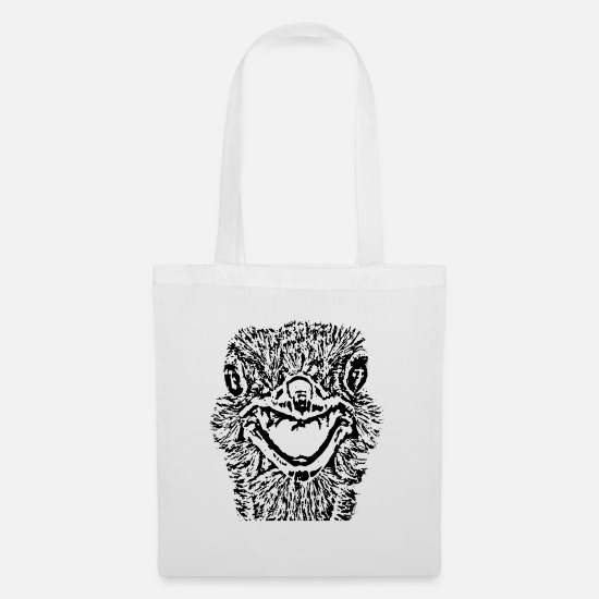 Birthday Bags & Backpacks - Bouquet of black and white cheeky - Tote Bag white