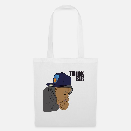 Caricature Bags & Backpacks - Think big - Tote Bag white
