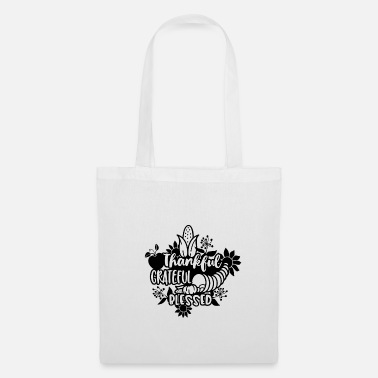 Sunflower Thankful Grateful Blessed Thanksgiving Abundance - Tote Bag