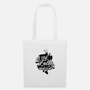 Apples I Love Fall Most of All Deer Pumpkin - Tote Bag