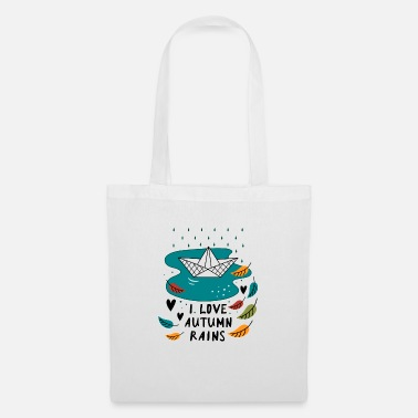 Autumn Autumn rain slogan - Tote Bag
