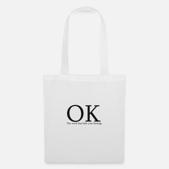Gift Idea Bags & Backpacks - OK - Tote Bag white