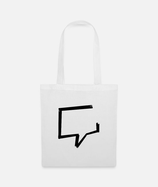 Be Different Bags & Backpacks - Speech bubble - tape - Tote Bag white