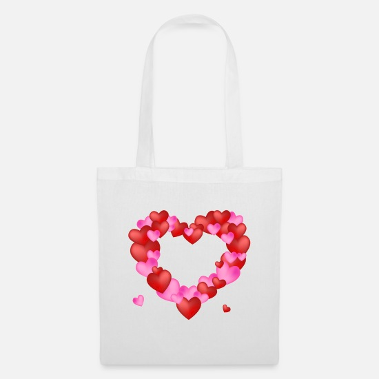 Girlfriend Bags & Backpacks - Heart of hearts - Tote Bag white