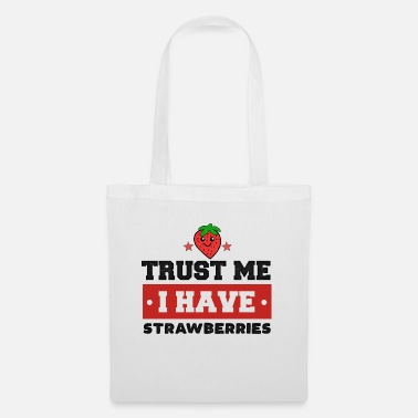 Fragola Dolce fragola Trust Me Berry Red Food - Borsa di stoffa