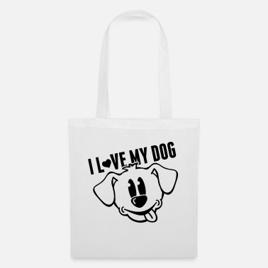 Langue Bouche i_love_my_dog_to1 - Sac en tissu