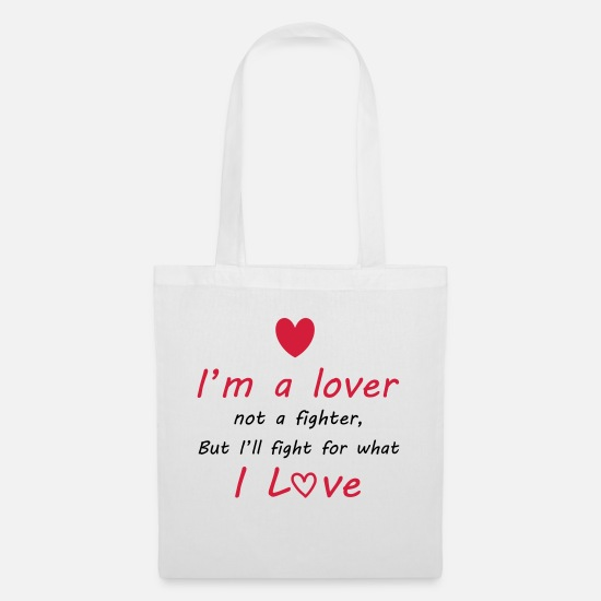 Heart Bags & Backpacks - Lover - Tote Bag white