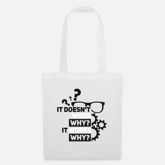 Computer Scientist Bags & Backpacks - PROGRAMMER - Tote Bag white