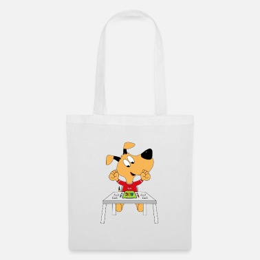 Start Dog - school - alphabet - exercise book - Tote Bag