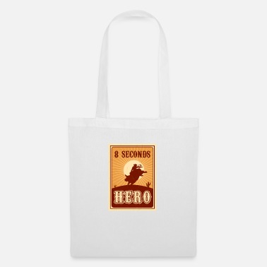 Western Riding Bull Riding 8 Seconds Hero Vintage Rodeo Retro Cow - Tote Bag