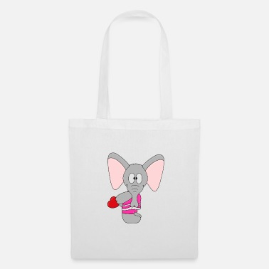 Groom Funny elephant - elephant - heart - love - Tote Bag