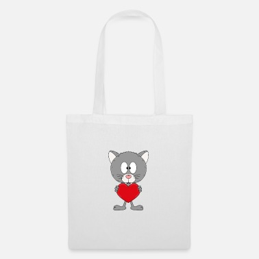 Trend Funny cat - heart - love - love - animal - fun - Tote Bag