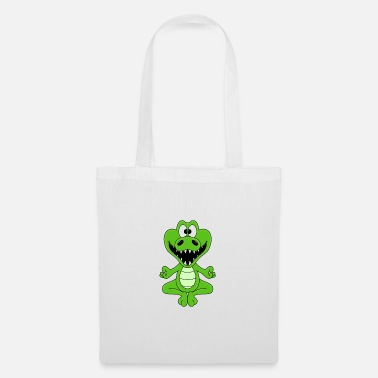 Fun Funny crocodile - yoga - chilling - relaxing - fun - Tote Bag