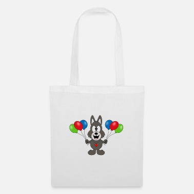 Mode Wolf - birthday - balloons - party - celebration - Tote Bag