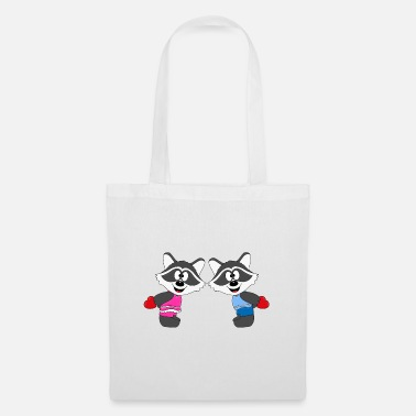 Heart Raccoons - Hearts - Love - Love - Animals - Tote Bag