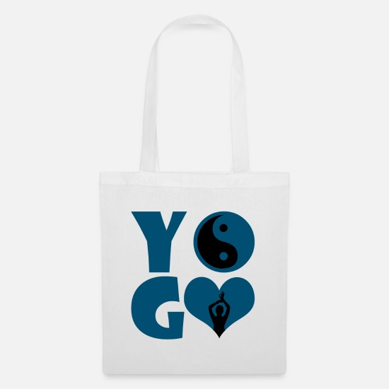 Gift Idea Bags & Backpacks - Yoga - Yoga - Tote Bag white