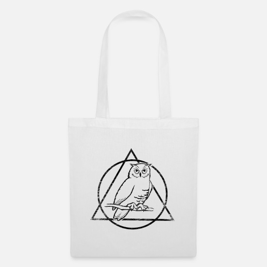 Nocturnal Bags & Backpacks - Owl nocturnal bird wild forest gift - Tote Bag white