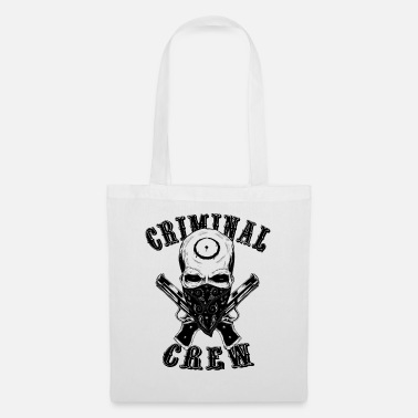 Ronin Criminal crew skull in black - Tote Bag