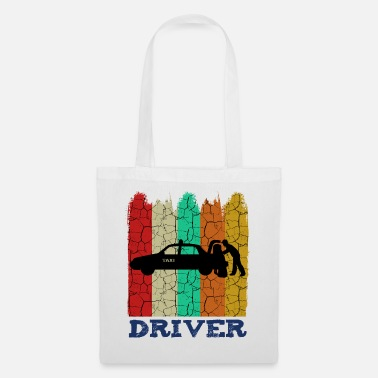 Taxi Retro Style Vintage Taxi Taxi Driver Taxes Gift - Tote Bag
