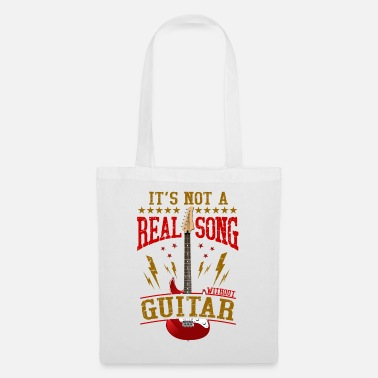It's Not A Real Song Without Guitar Rock Musician - Tote Bag