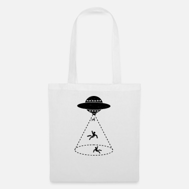 Scifi UFO Abduction Flying Men Gift - Tote Bag